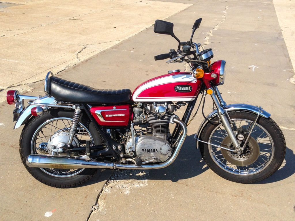 classic yamaha 650 donated to the national motorcycle