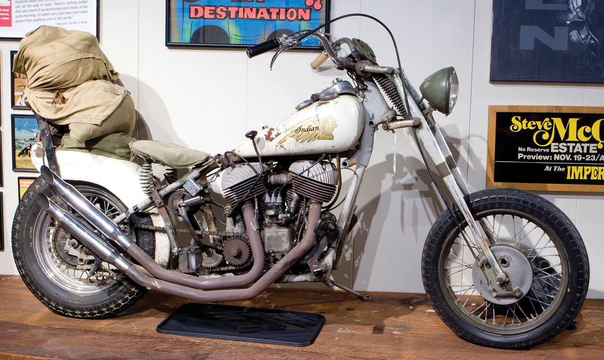 Steve Mcqueen S Indian Chief Chopper 187 National Motorcycle