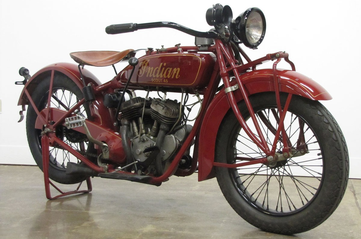 1927 Indian Scout 45 on Life Cycles Bikes