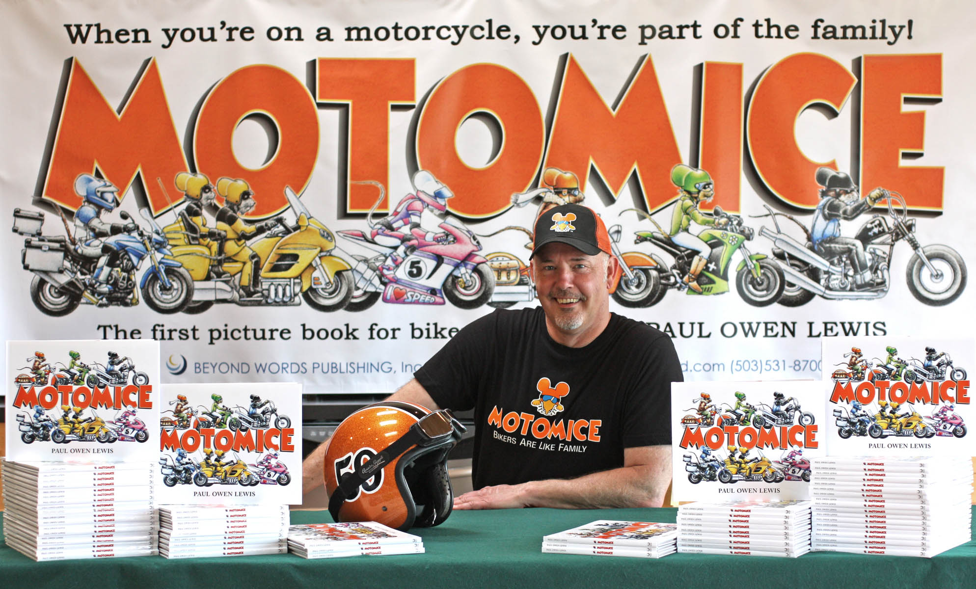 Motomice Author Paul Owen Lewis Book Signing