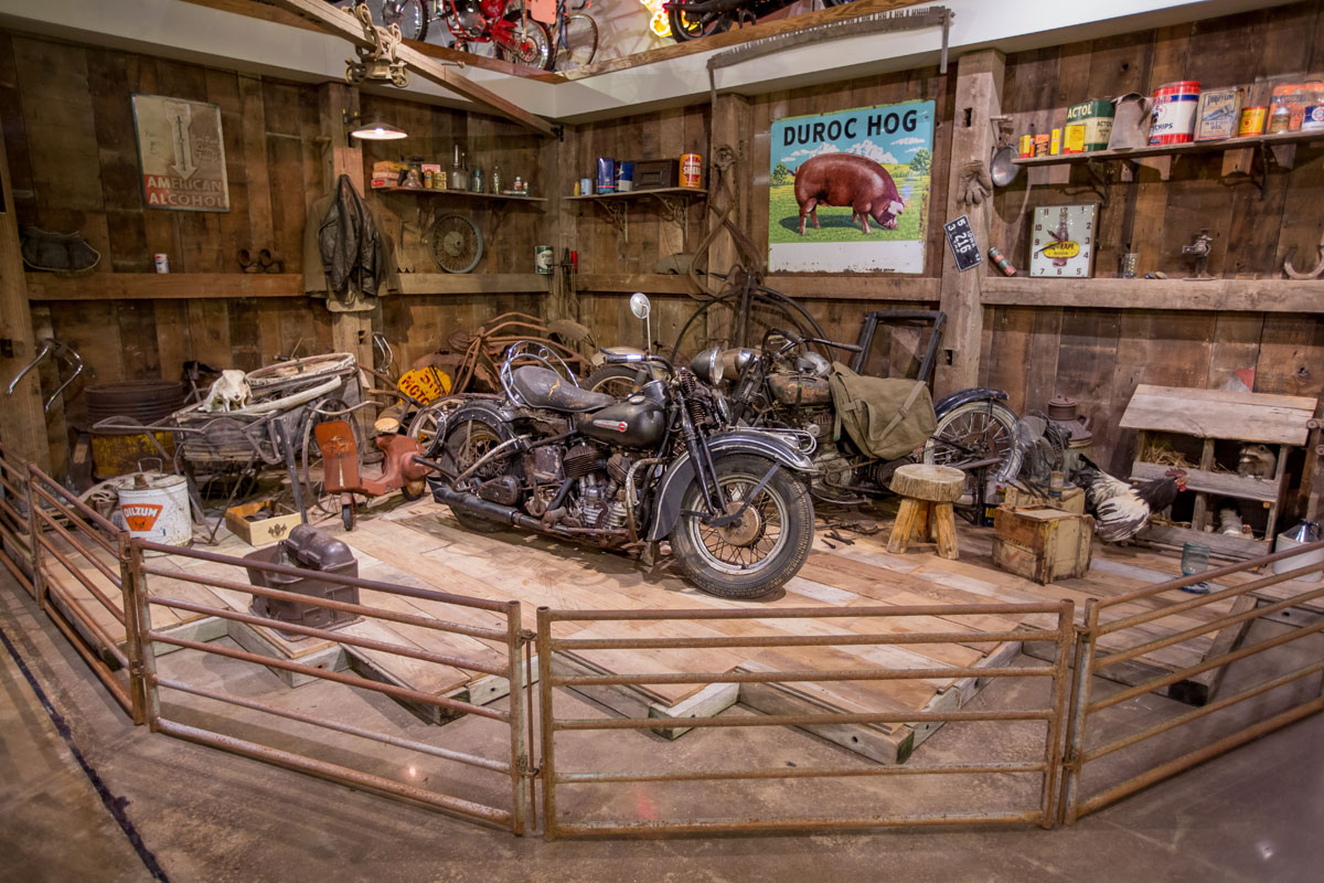 New And Permanent For The Museum Is Our BARN FIND Exhibit With Dusty Rusty Crusty Motorcycles Agricultural Automotive Iron You Might Find In An