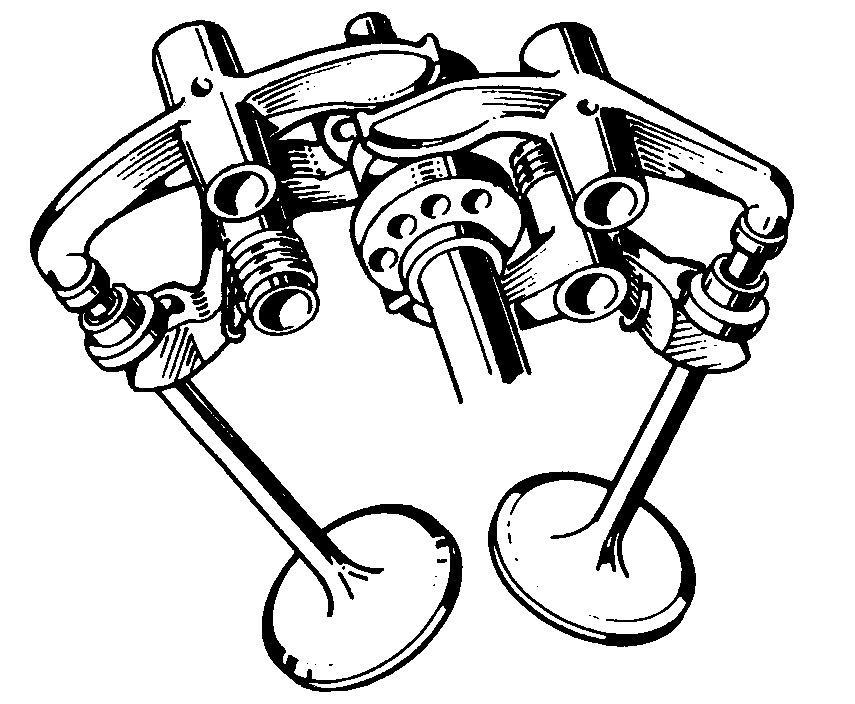 Desmodromic-valve-train
