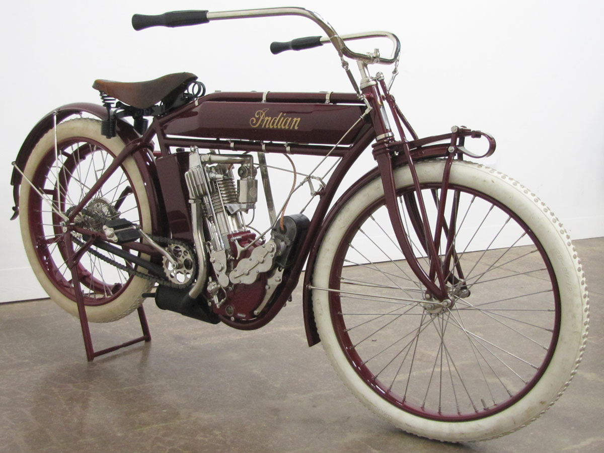 1912 Indian Belt Drive Single National Motorcycle Museum