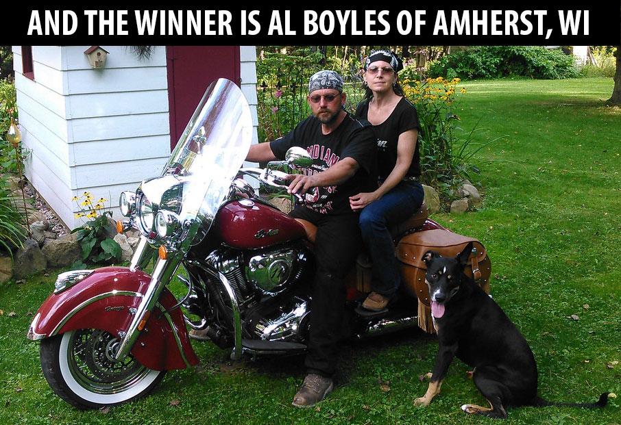 2018 Winner, Al Boyles of Amherst, WI