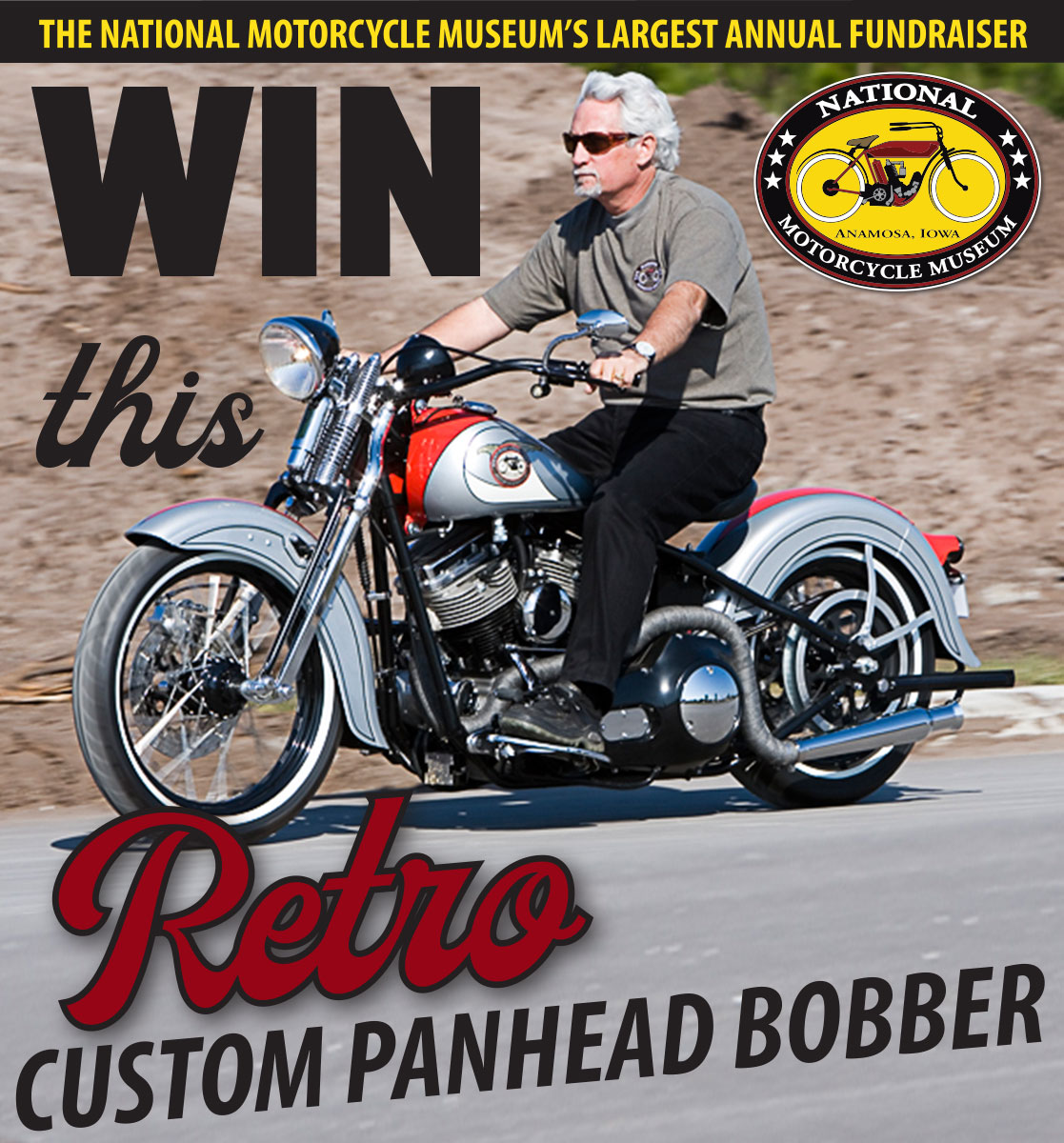 Win this Retro Custom Panhead Bobber motorcycle